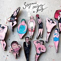 brože Stellion - kolekce Sexymen / brooches Stellion - Sexymen collection