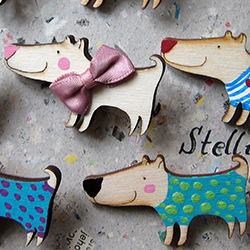 brože Stellion - kolekce Woody / brooches Stellion - Woody collection